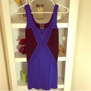 Blue and black clubbing dress